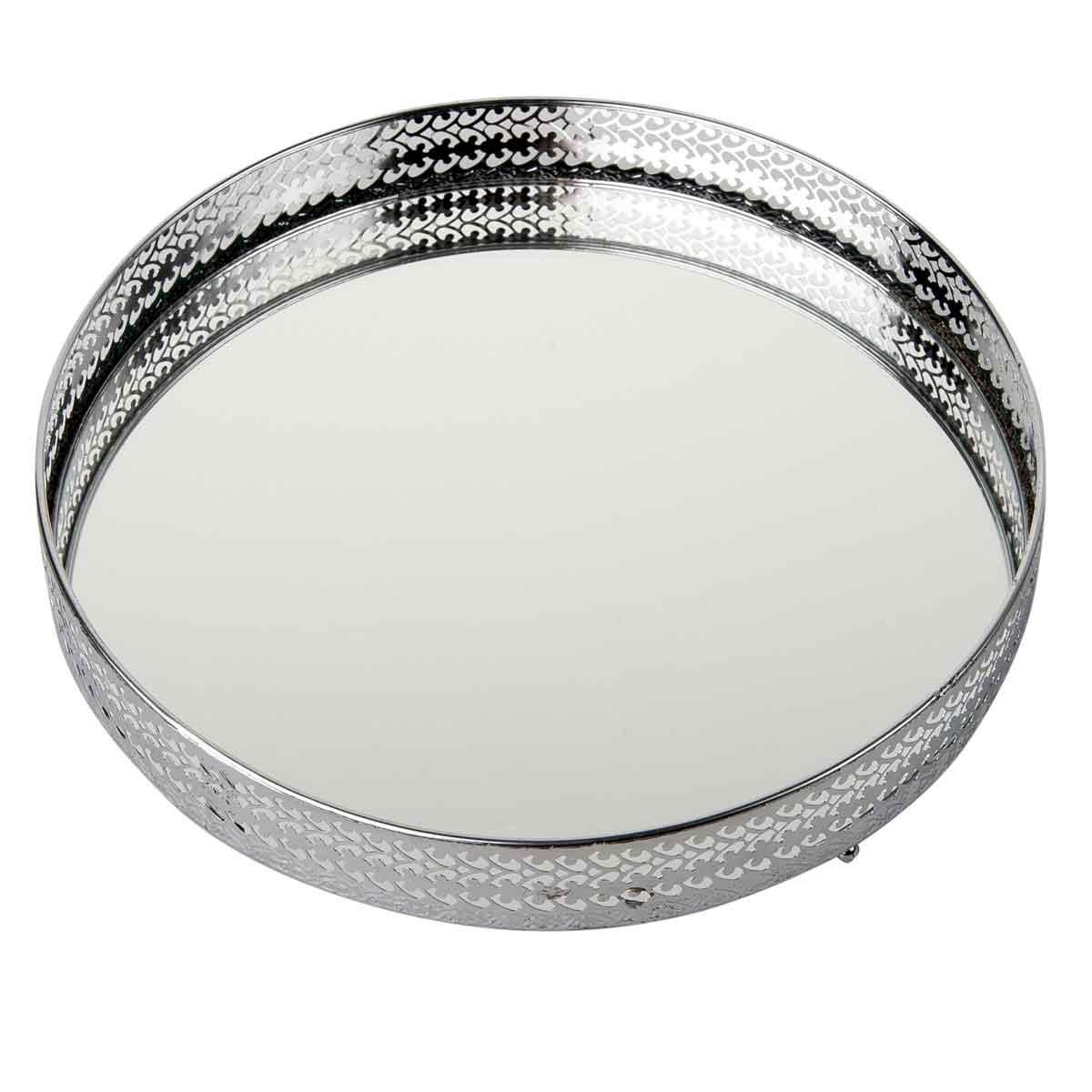 Vassoio con specchio diametro 26cm
