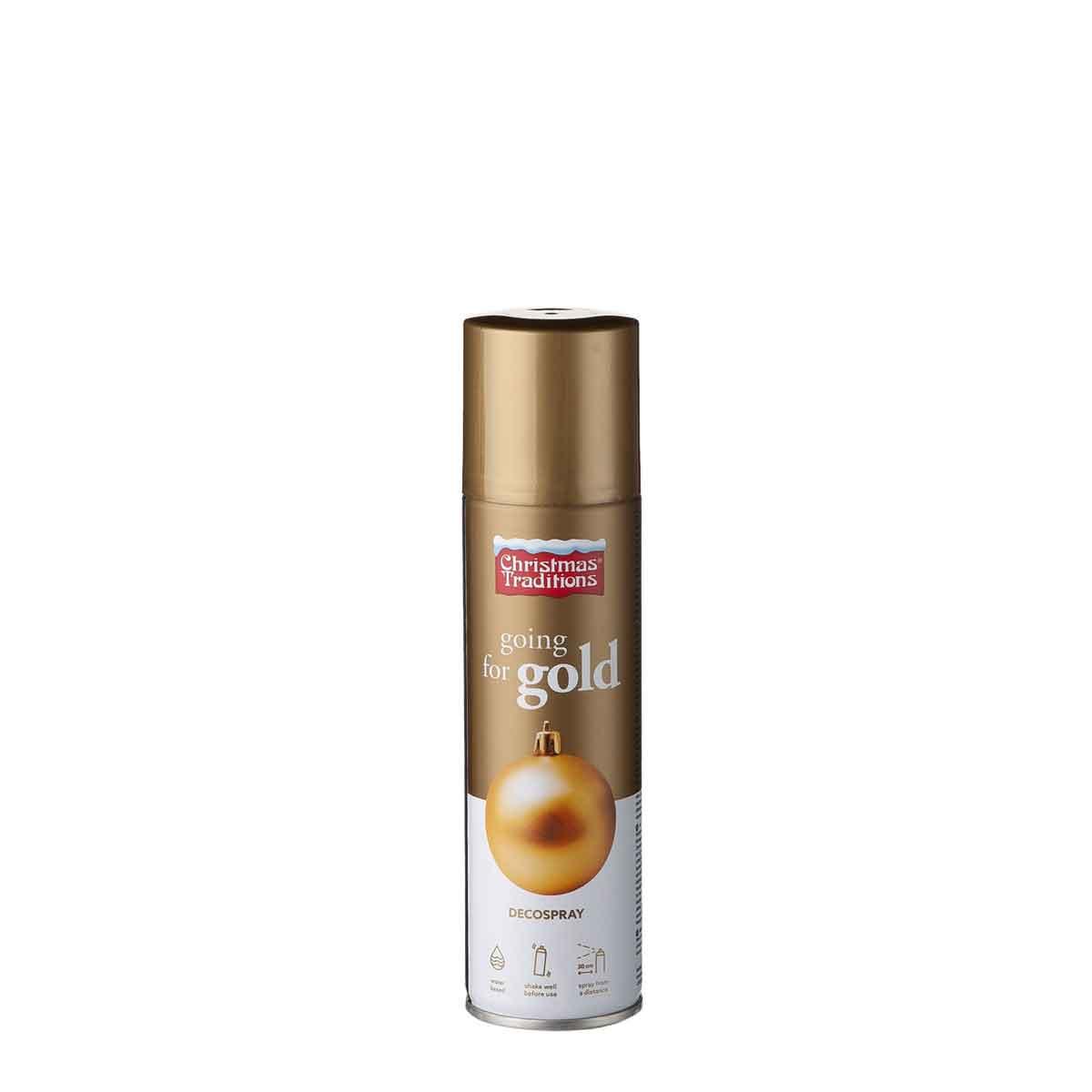 Vernice oro spray a base d'acqua. Confezione da 150 ml