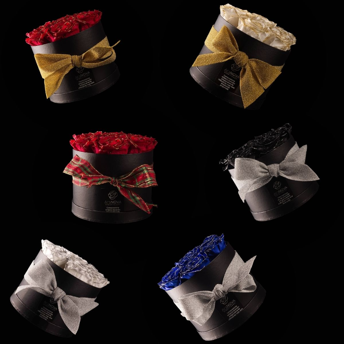 Ars Nova – Christmas Box 7 rose stabilizzate