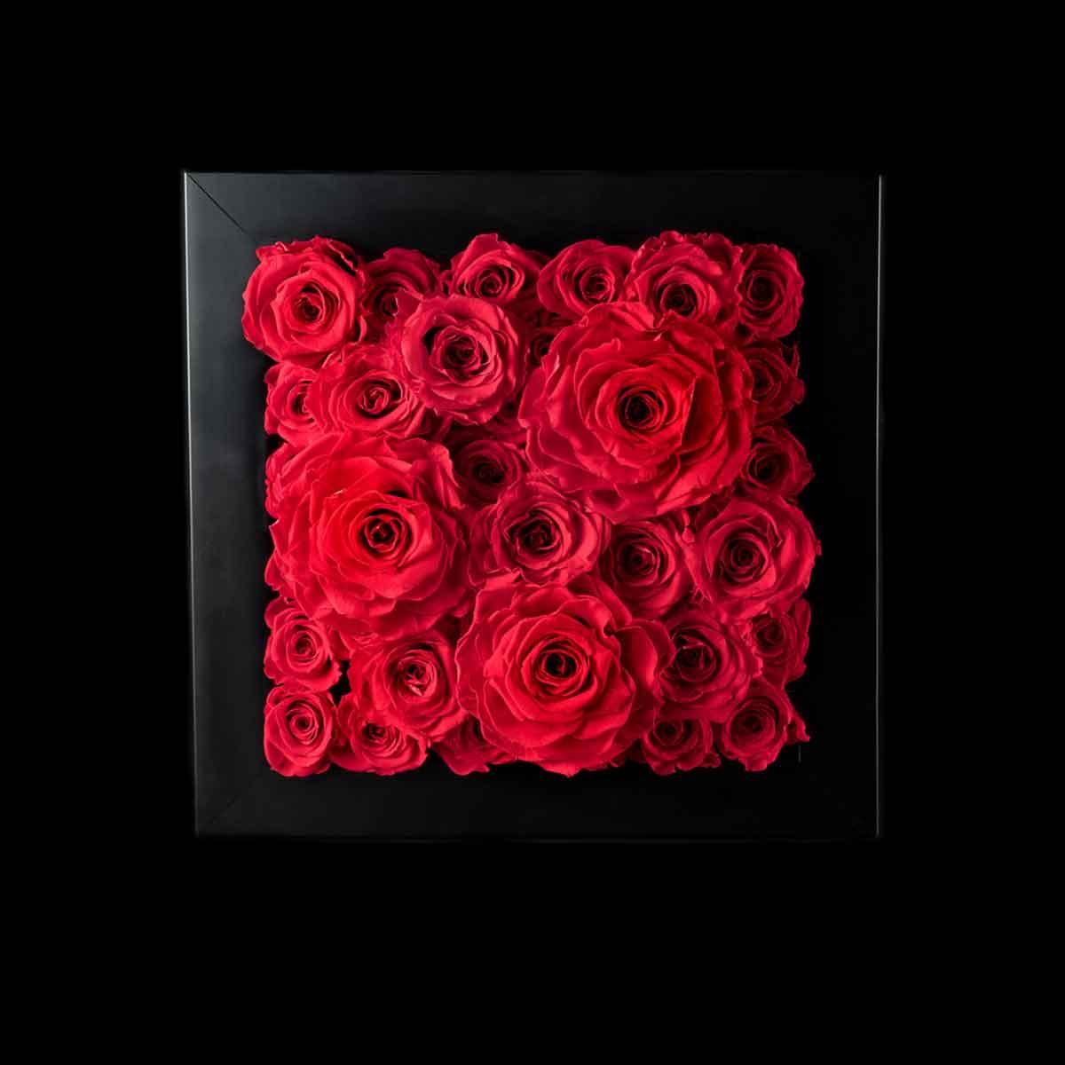 Ars Nova – Quadro tridimensionale rose rosse