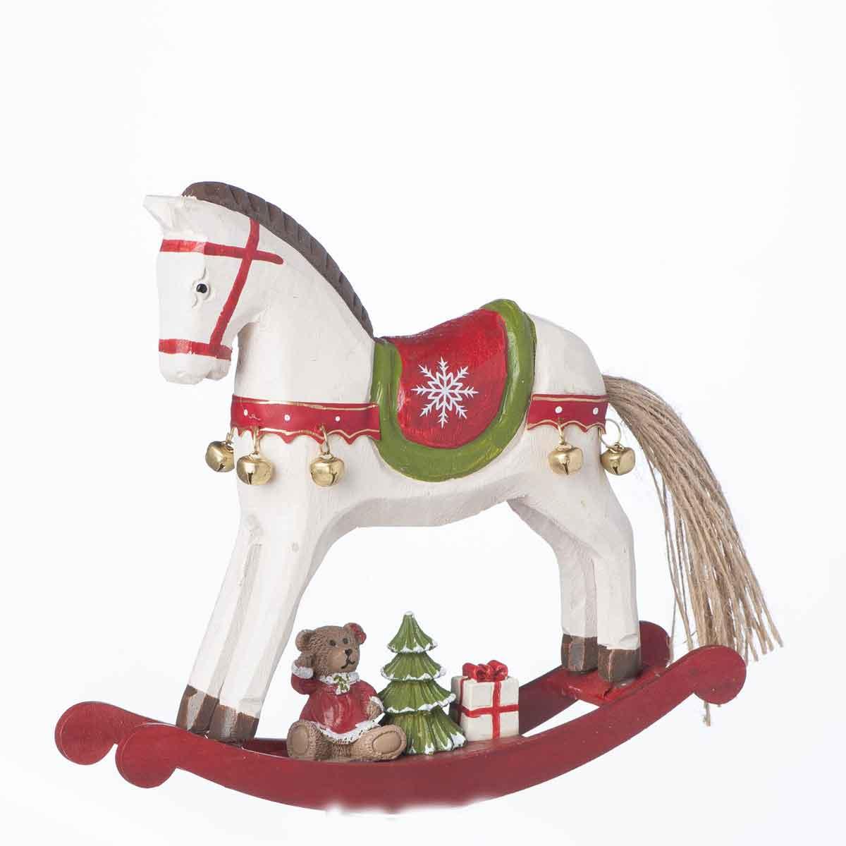 Cavallino in legno con doni