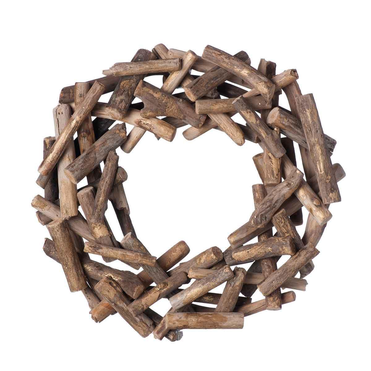 Corona con legni naturali