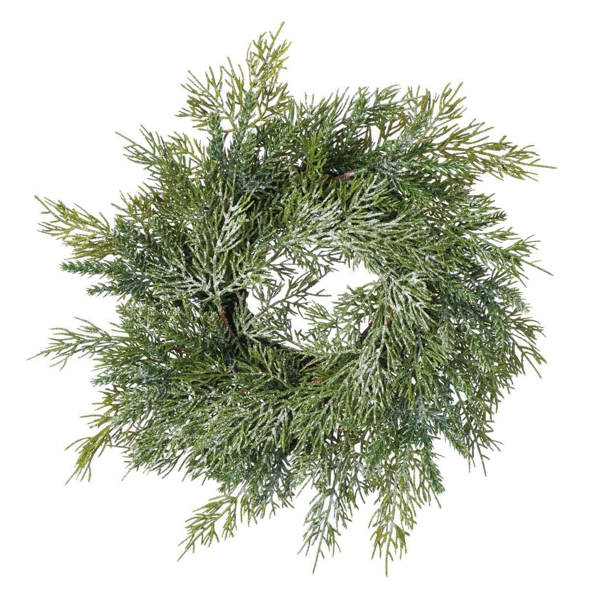 Corona di pino con glitter