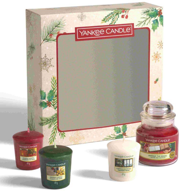 Yankee Candle Confezione regalo – 1 giara piccola e 3 sampler
