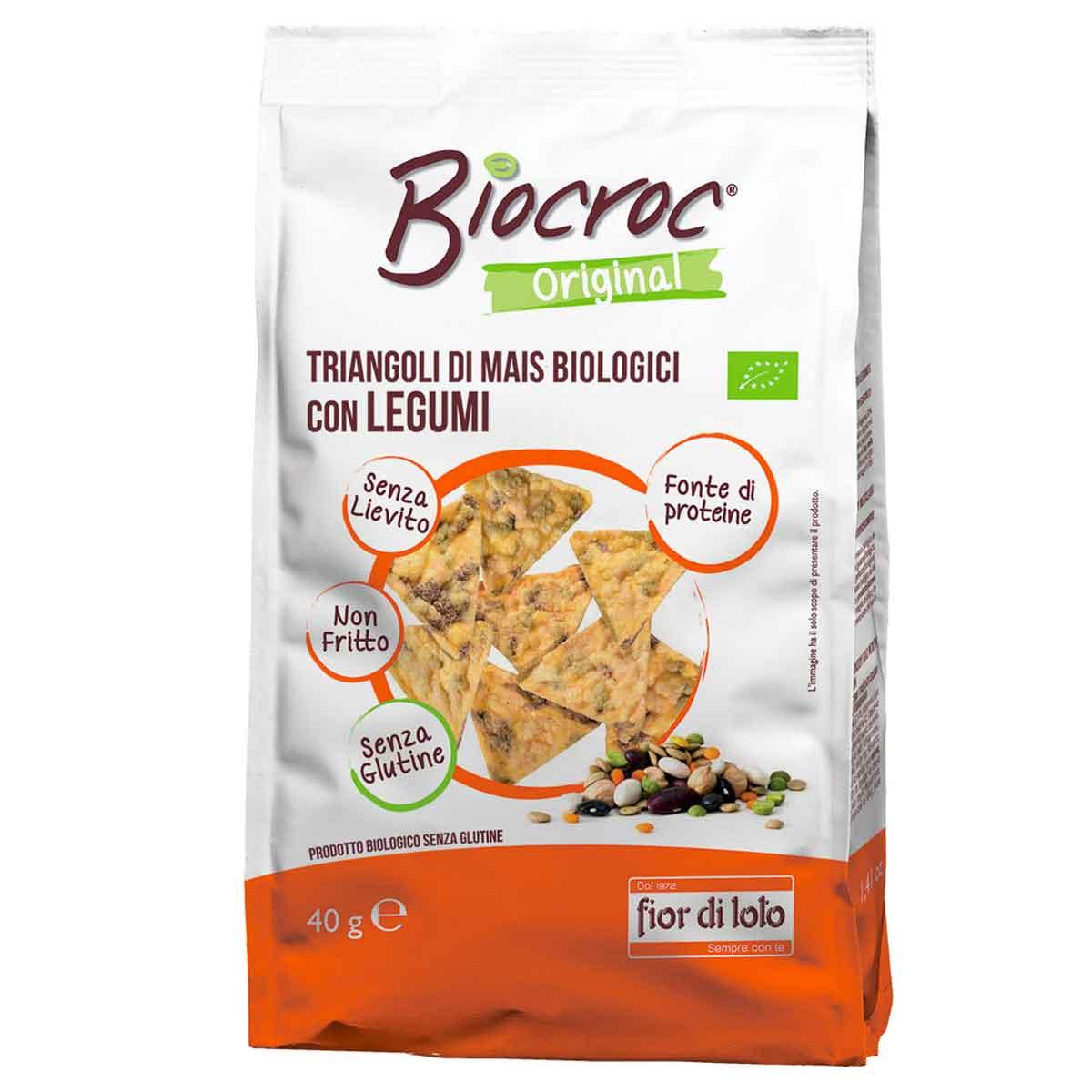 Biocroc triangoli di mais con legumi