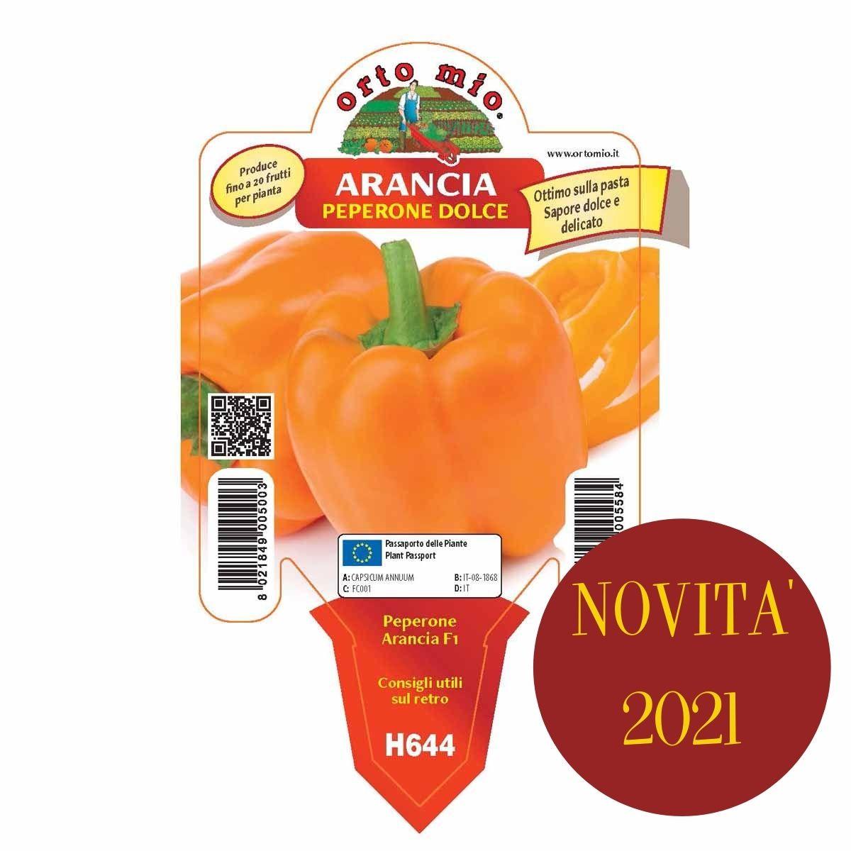 Peperone Quadrato Arancione var. Arancia F1