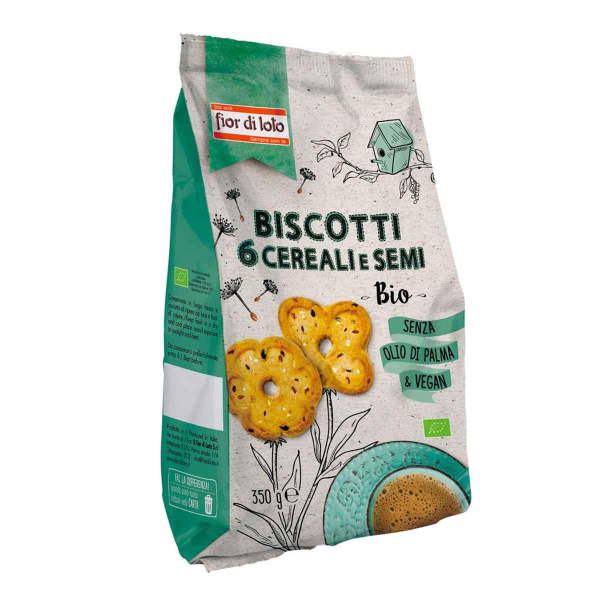 Fior di loto Biscotti ai 6 cereali e semi