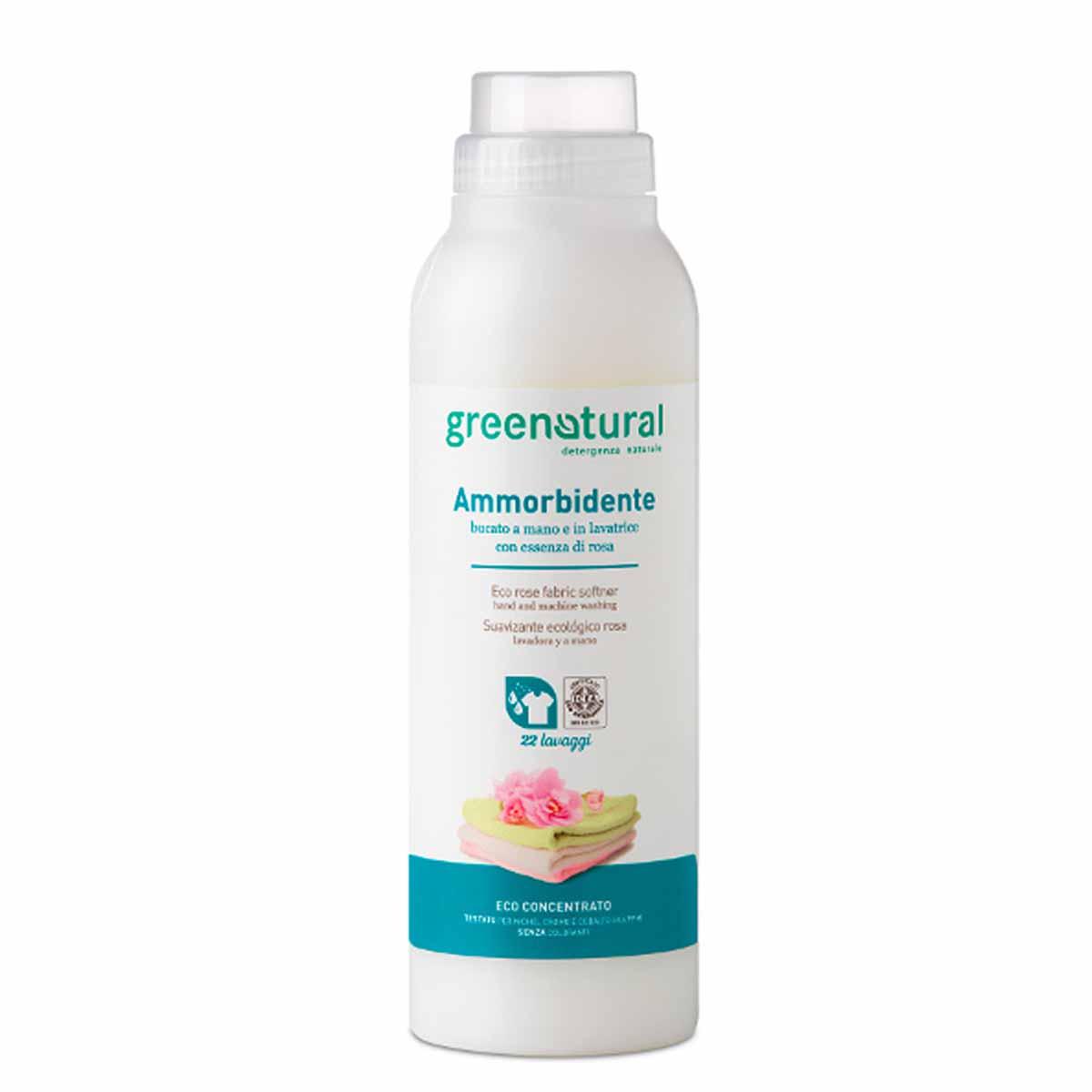 Greenatural – Ammorbidente a mano e in lavatrice Rosa
