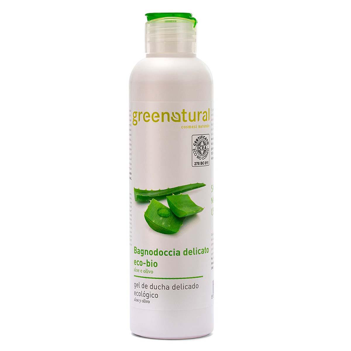 Greenatural – Bagnodoccia Rigenerante Aloe & Olivo 250ml