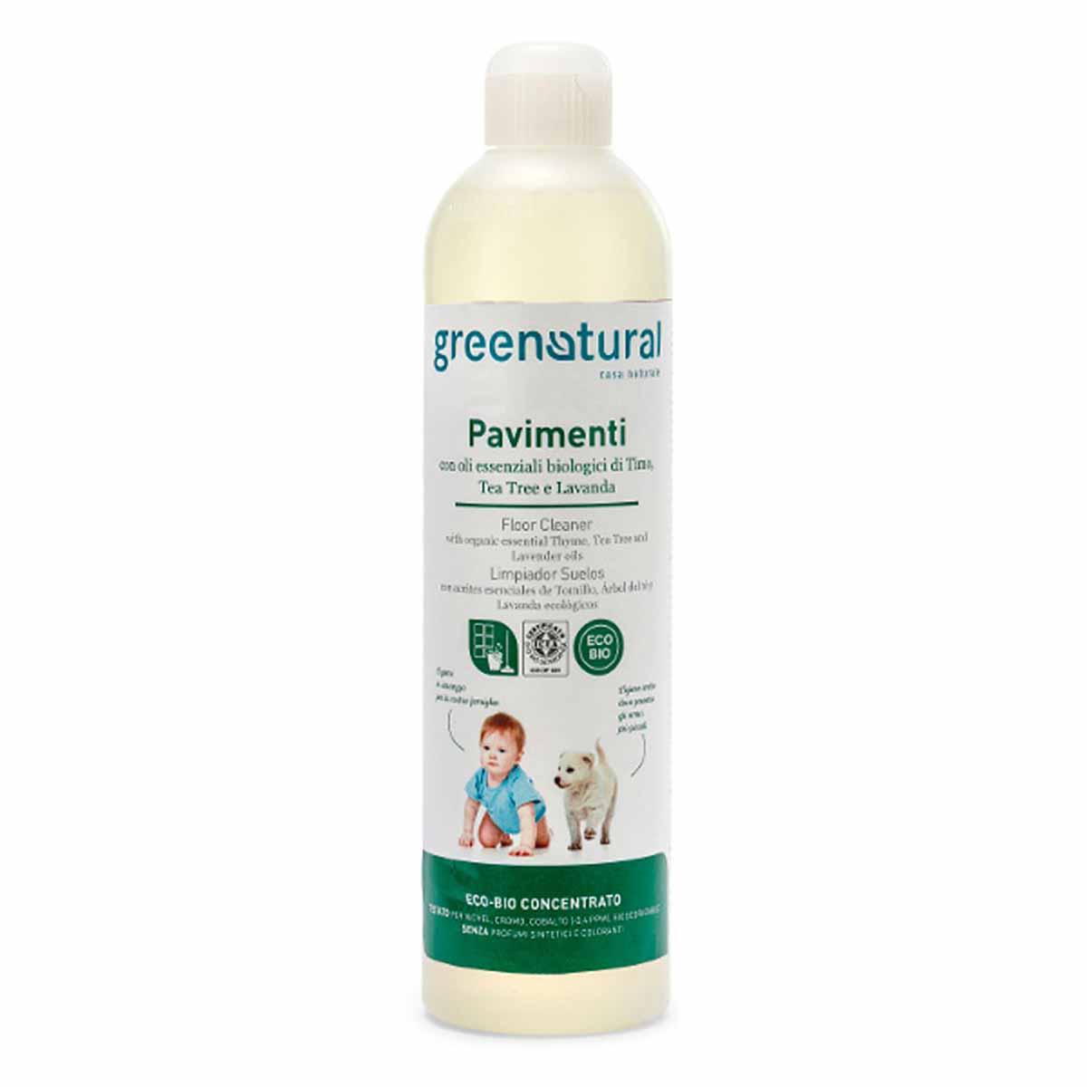 Greenatural – Detergente Pavimenti Timo, Tea Tree & Lavanda