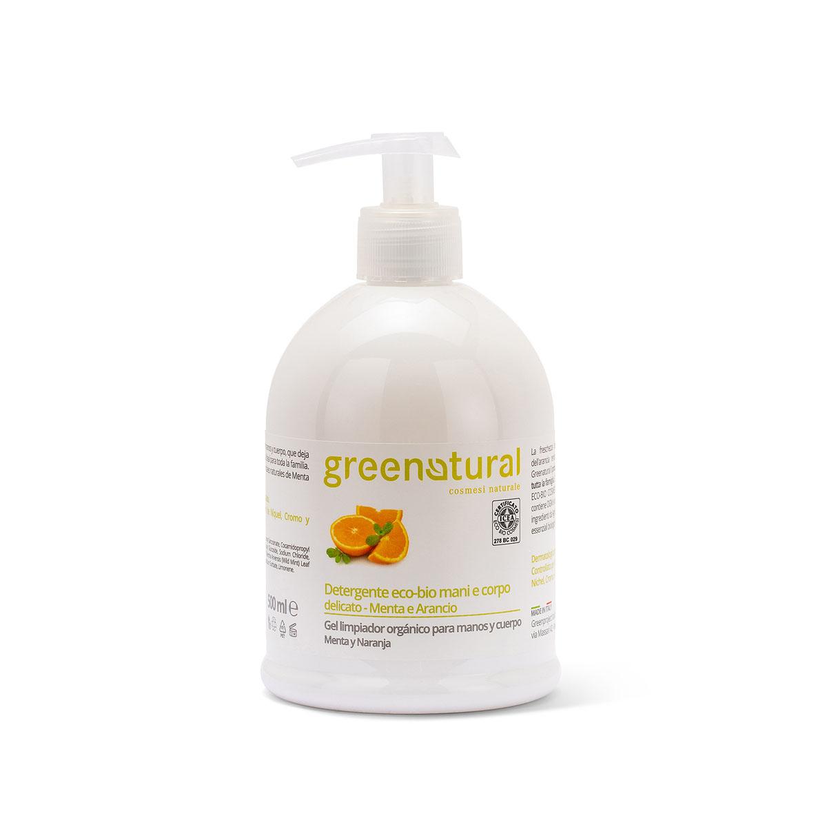 Greenatural – Detergente mani e corpo Menta & Arancio 100ml