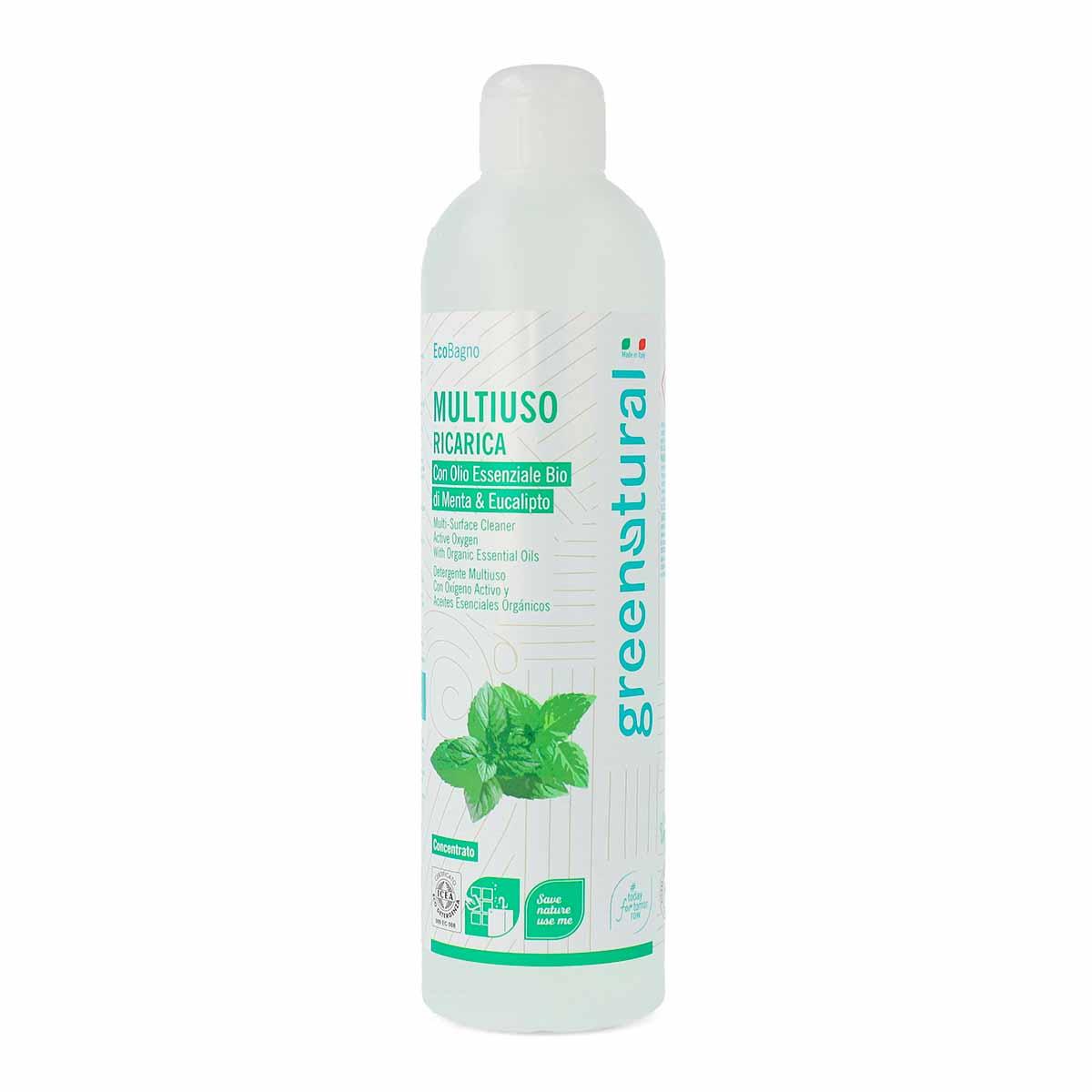Greenatural – Ricarica Detersivo Multiuso Ossigeno Attivo Menta e Eucalipto