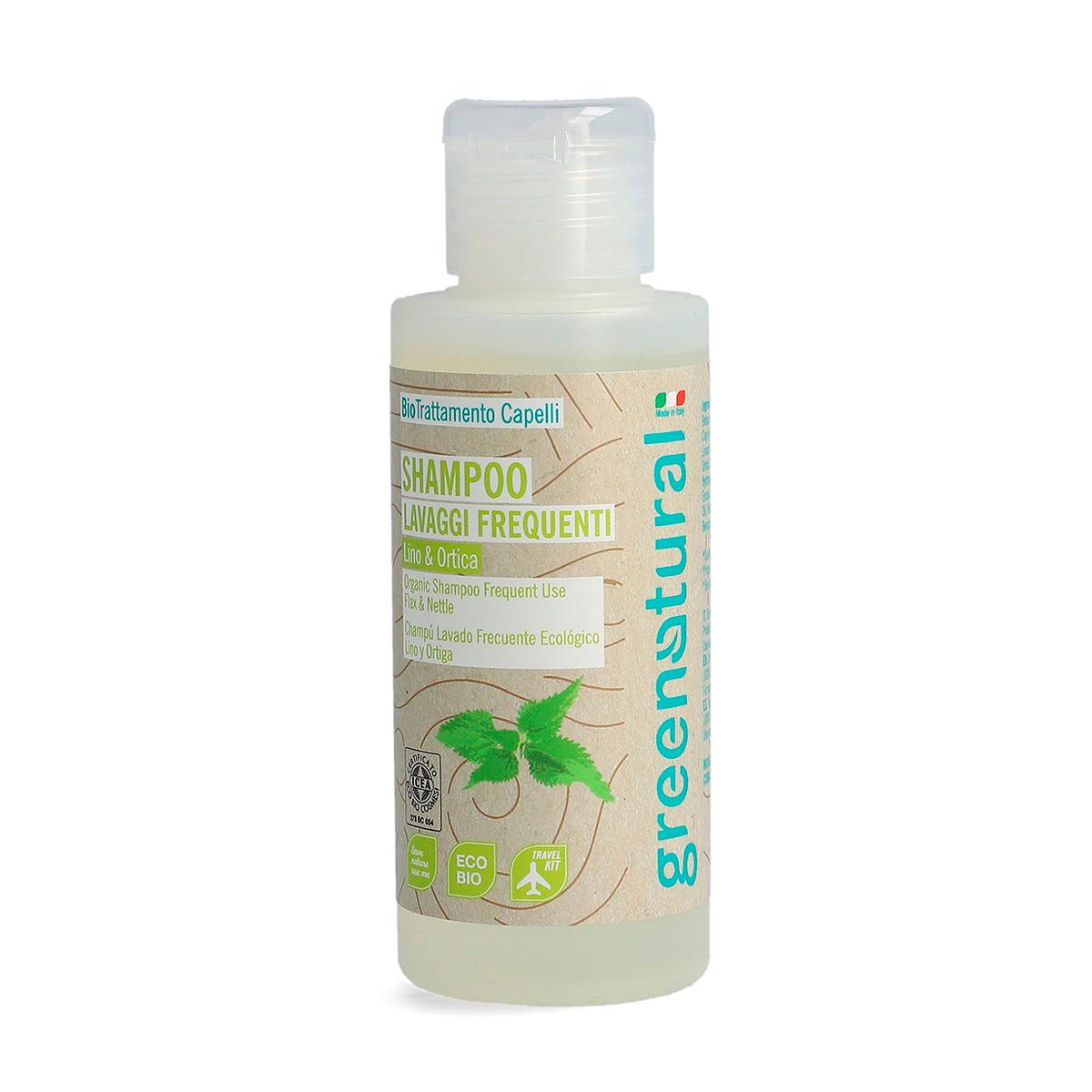 Greenatural – Shampoo Lavaggi Frequenti Lino & Ortica 100ml