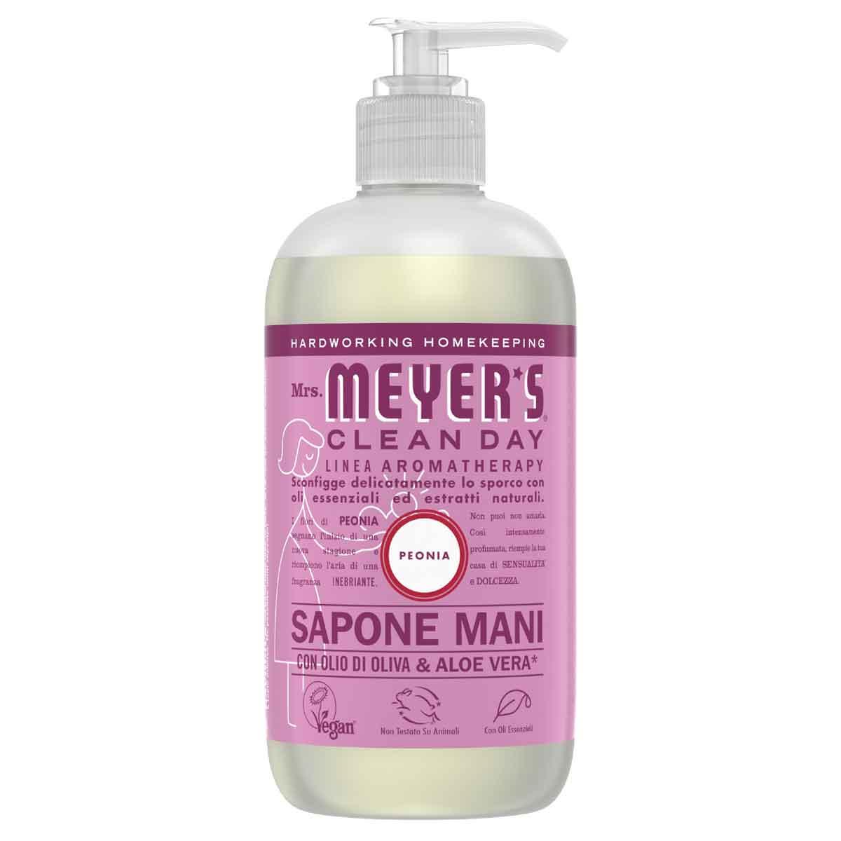Mrs. Meyer's Sapone liquido per le mani Peonia
