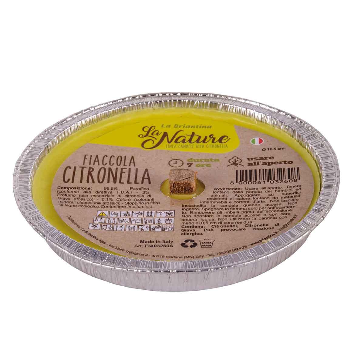 La Briantina – Fiaccola alla citronella in alluminio diametro 16,5cm
