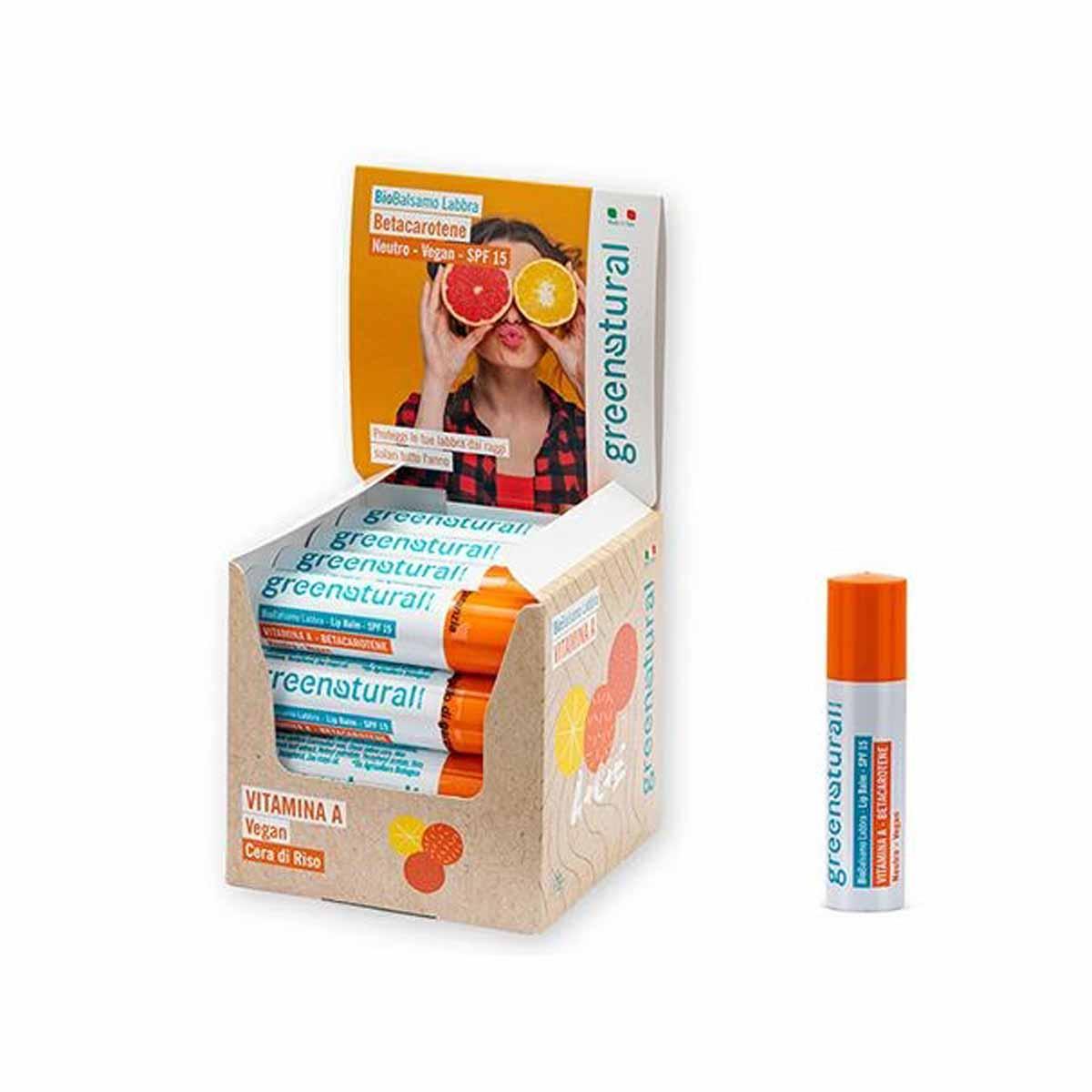 Greenatural – Balsamo Labbra Stick Vitamina A con SPF 15