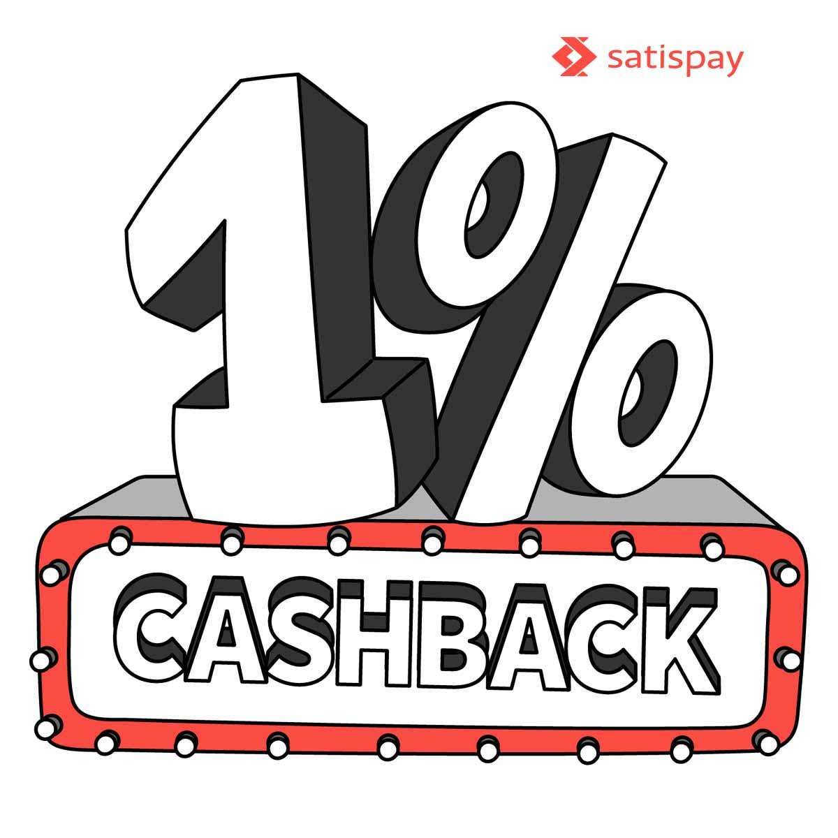 Ottieni sempre l'1% di Cashback pagando con Satispay!