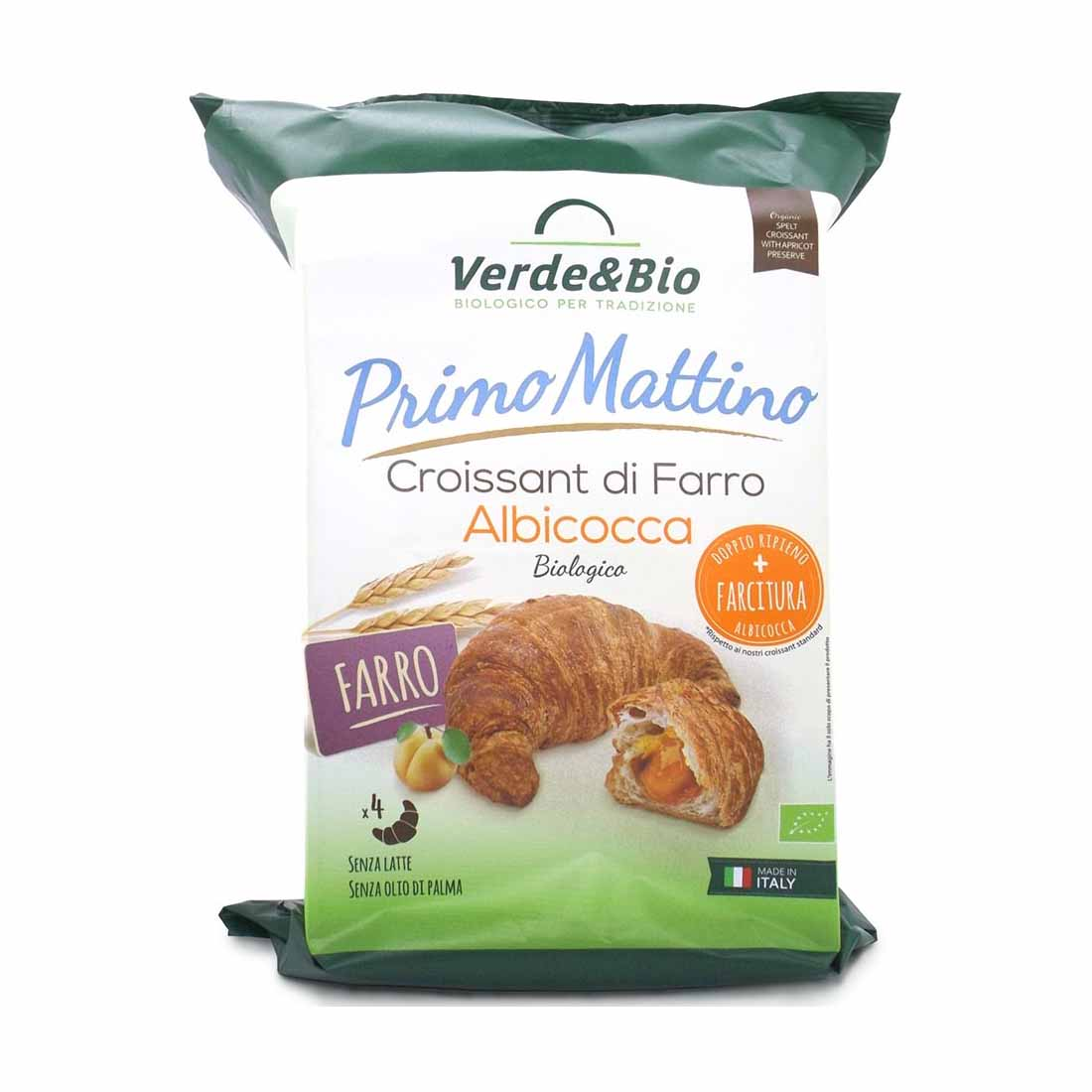 Verde&bio Croissant Vegano di farro con albicocca