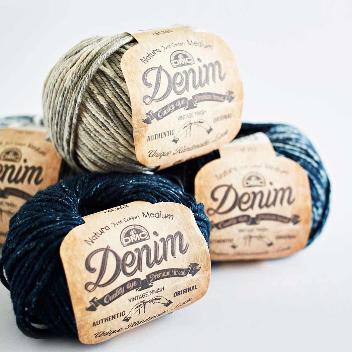DMC Linea filati Coton Natura Denim 50 g